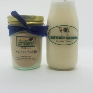 Leather Saddle Soy Wax Candles
